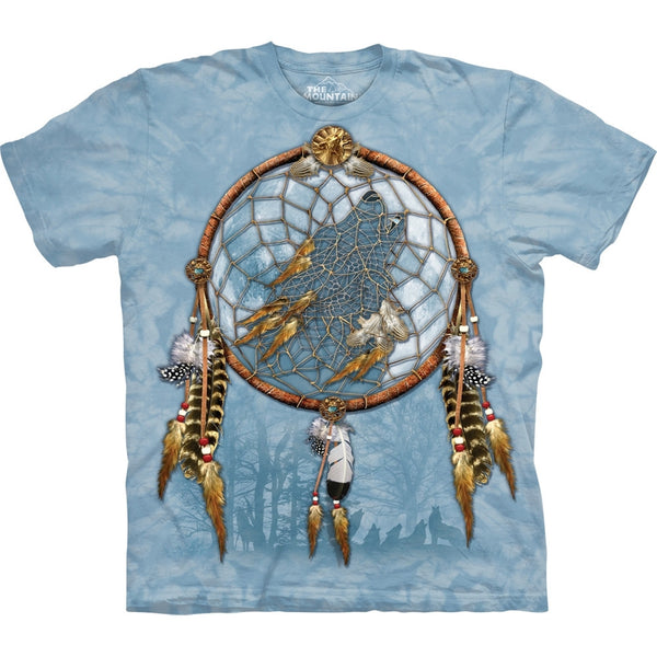 Wolf in Dream Catcher T-Shirt