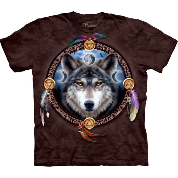 Wolf The Dream Catcher Guide T-Shirt