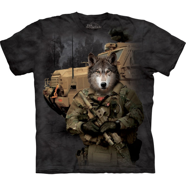 Wolf in Combat Gear T-Shirt