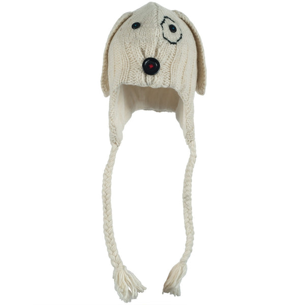 Cable Dog Peruvian Knit Hat