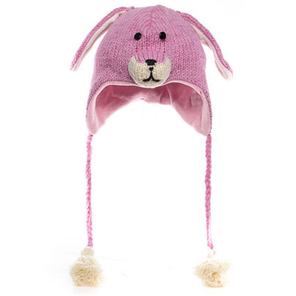 Bailey the Bunny Peruvian Knit Hat