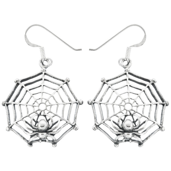 Small Spider in Large Web Earrings