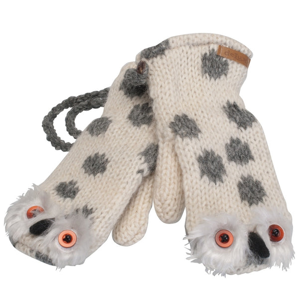 Olly The Owl Kids Knit Mittens