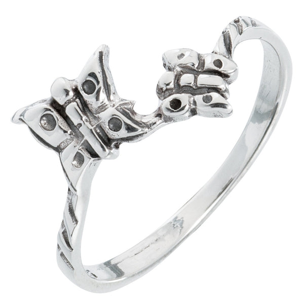 Butterfly Double Sterling Silver Ring
