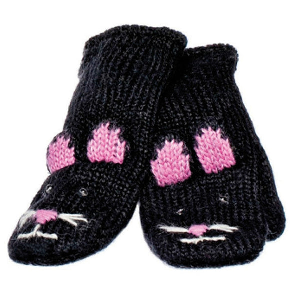 Kiki The Kitty Kids Knit Mittens