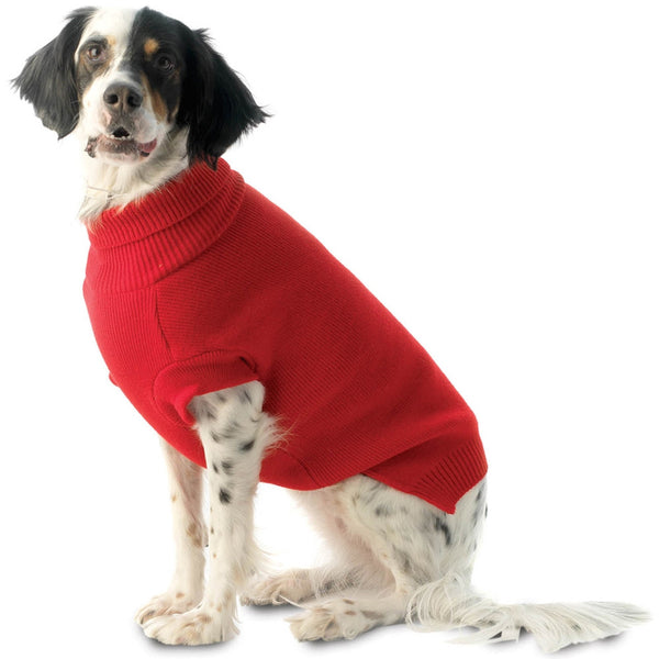 Baxter's Red Basic Dog Sweater