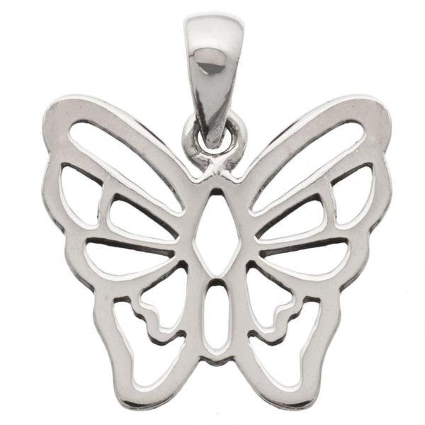 Butterfly Straight Sterling Silver Pendant