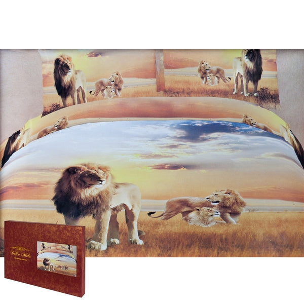 African Lions Queen Size Bedding Set