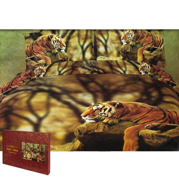Lonely Tiger  King Size Bedding Set