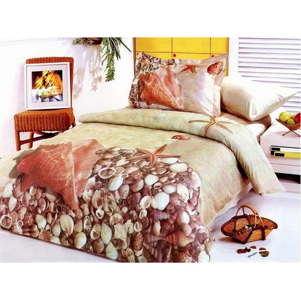 Shell Collection Queen Size Bedding Set