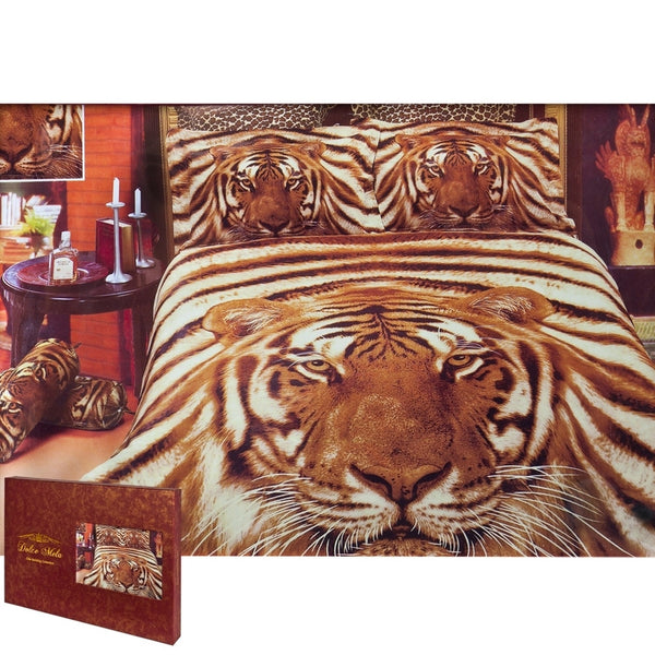 Siberian Tiger Queen Size Bedding Set