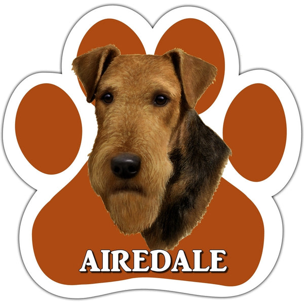 Airedale Paw Shaped Car Magnet