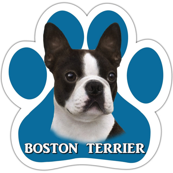 Boston Terrier Paw Shaped Car Magnet