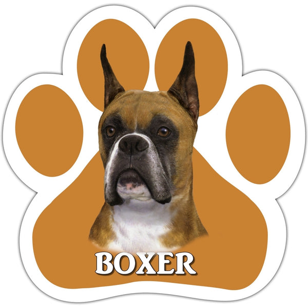 Boxer Paw Shaped Car Magnet