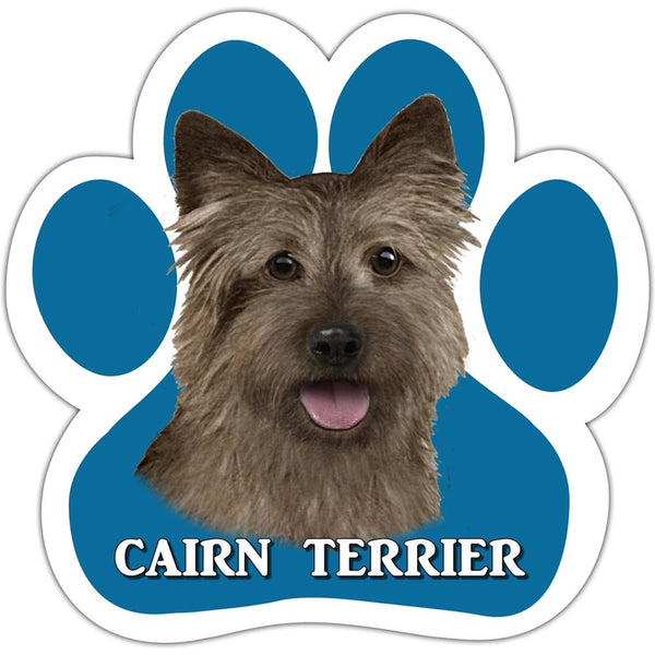 Cairn Terrier Paw Shaped Car Magnet