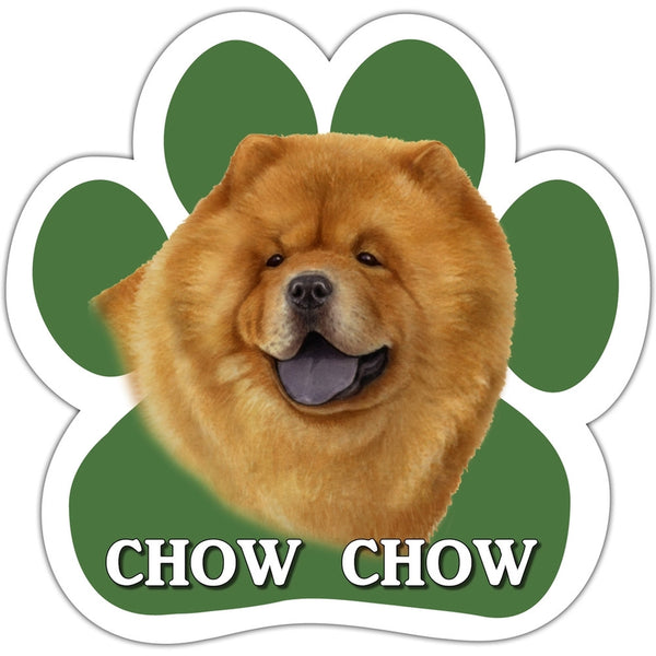 Chow Chow Paw Shaped Car Magnet