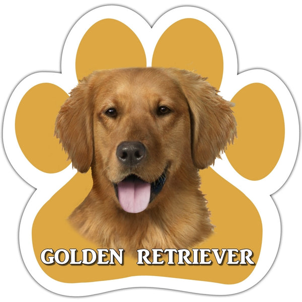 Golden Retriever Paw Shaped Car Magnet