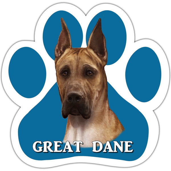 Great Dane Paw Shaped Car Magnet