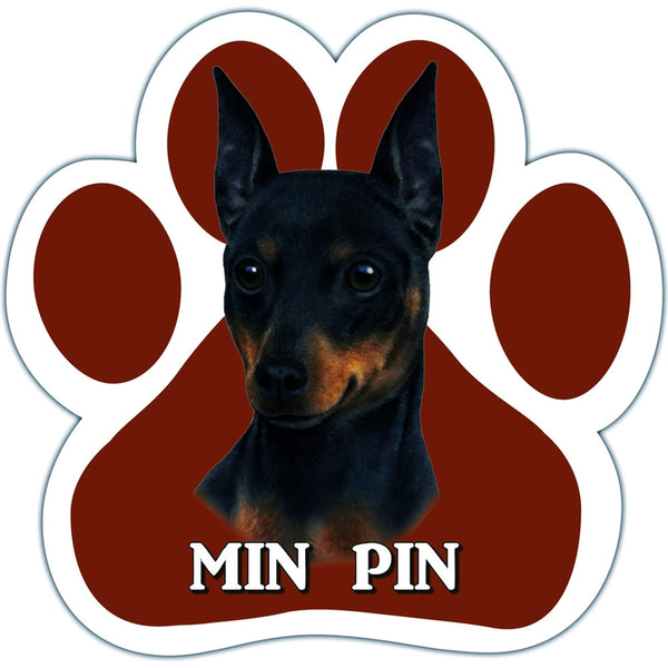 Min Pin Paw Shaped Car Magnet