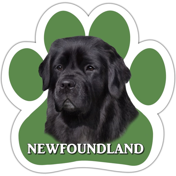 Newfoundland Paw Shaped Car Magnet