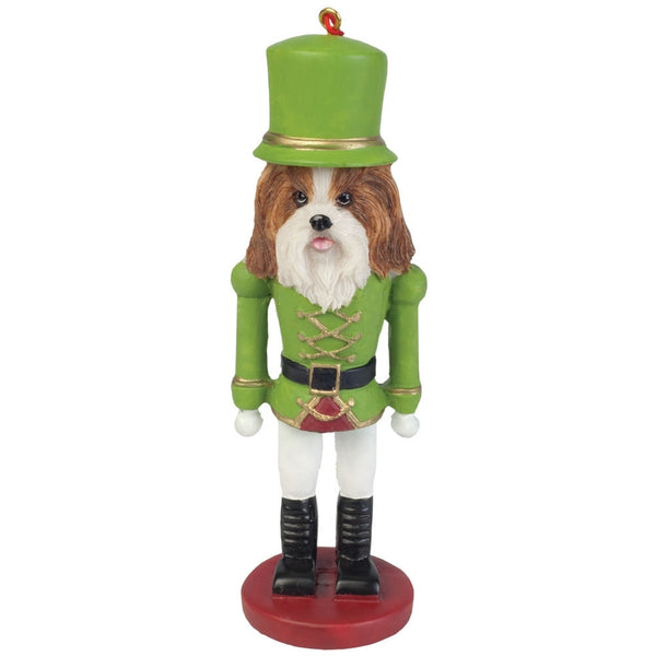 Green Shih Tzu Nutcracker Christmas Ornament