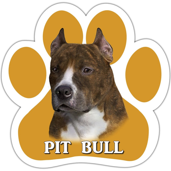 Pit Bull Paw Shaped Car Magnet