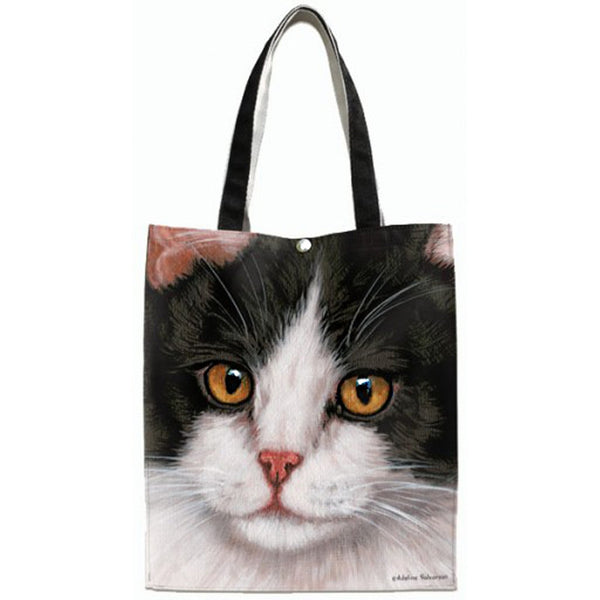 Black & White Cat Canvas Tote