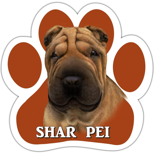 Shar Pei Paw Shaped Car Magnet