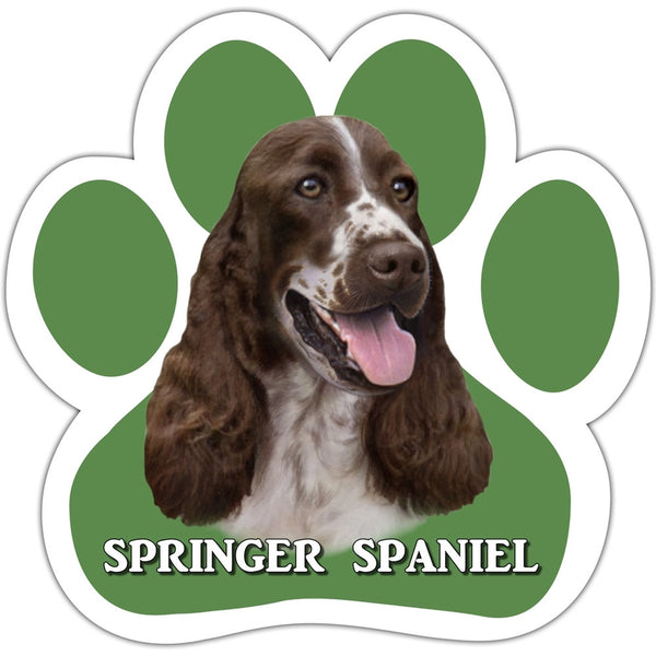 Springer Spaniel Paw Shaped Car Magnet