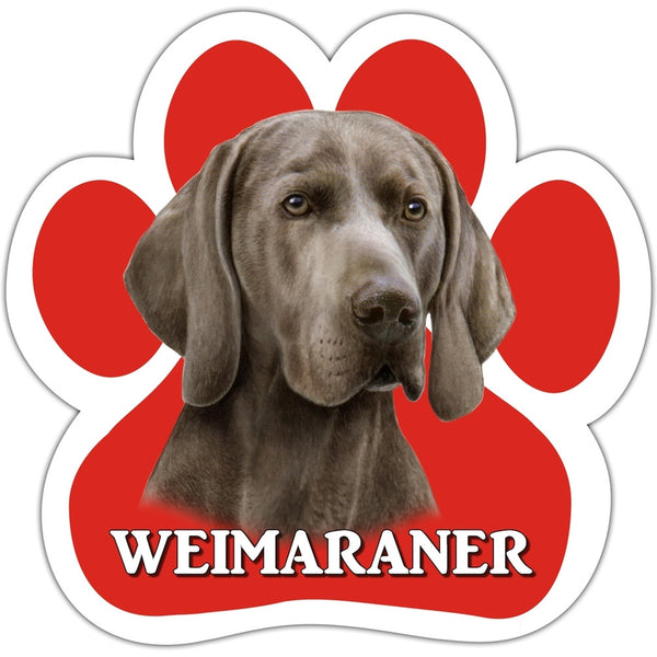Weimaraner Paw Shaped Car Magnet