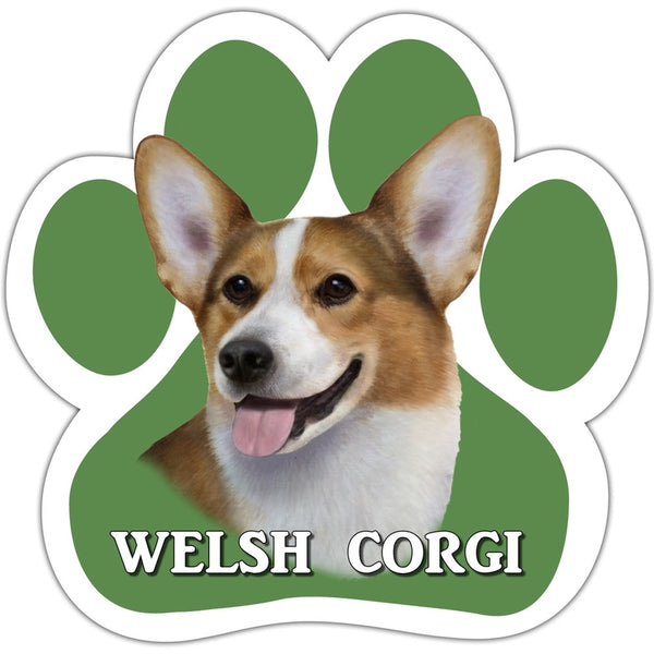 Welsh Corgi Paw Shaped Car Magnet