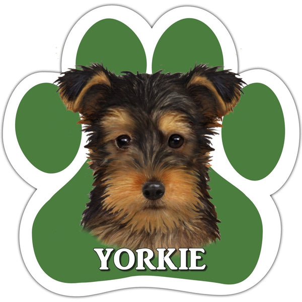 Yorkie Paw Shaped Car Magnet