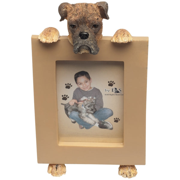 Brindle Boxer Holding Frame Small Picture Frame