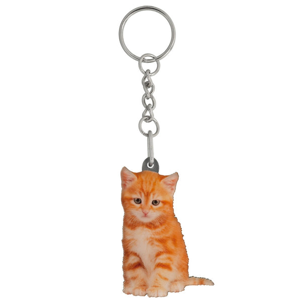 Tigger the Kitten Mirrored Acrylic Keychain