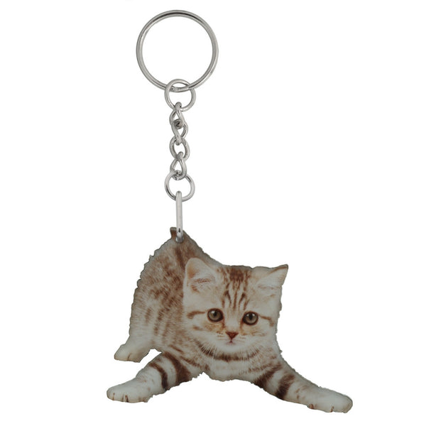 Chloe the Kitten Mirrored Acrylic Keychain