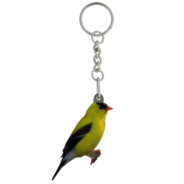 Goldfinch Mirrored Acrylic Keychain