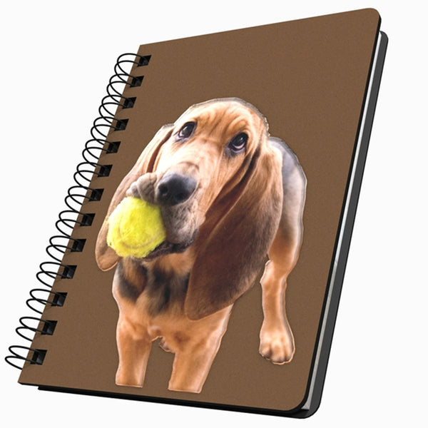 Bloodhound With Ball Medium Acrylic Journal