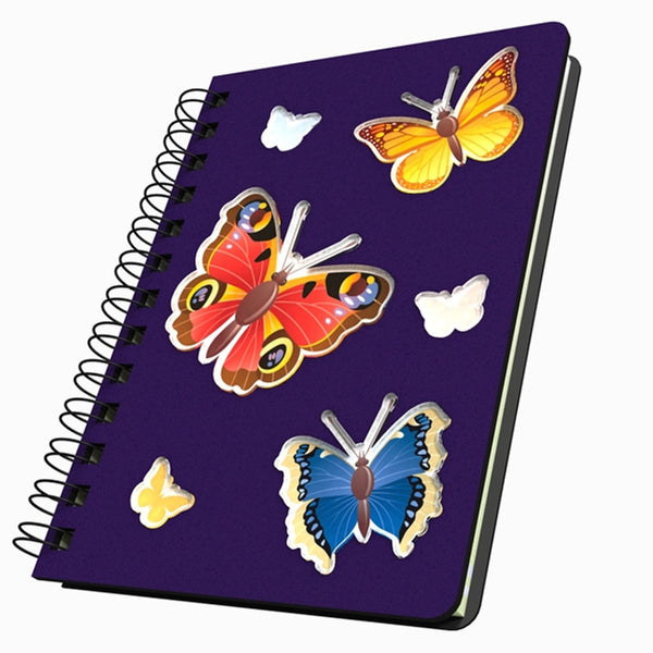 Butterfly Trio Medium Acrylic Journal