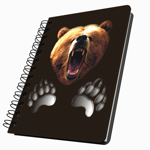 Bear Head & Paws Medium Acrylic Journal