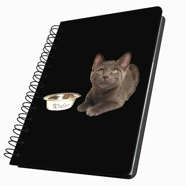 Kitten & Water Dish Medium Acrylic Journal
