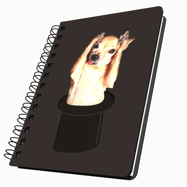 Chihuahua in Top Hat Small Acrylic Journal