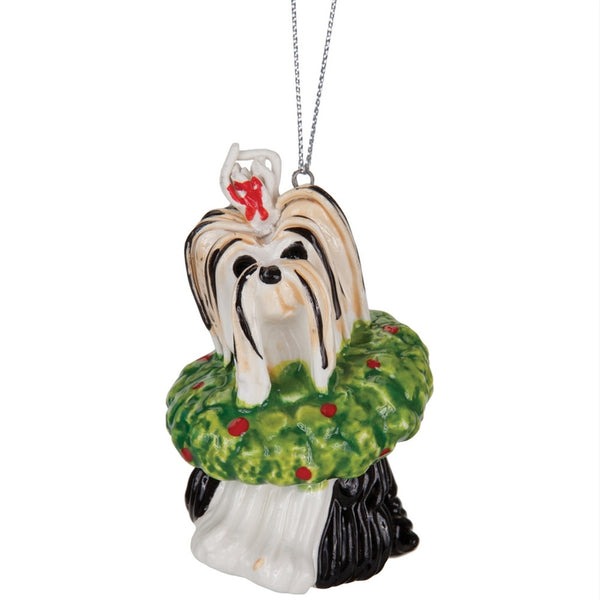 Yoshie the Yorkie Christmas Ornament