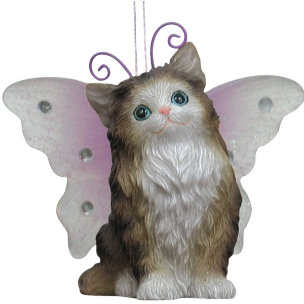 Kitten With Butterfly Wings Christmas Ornament