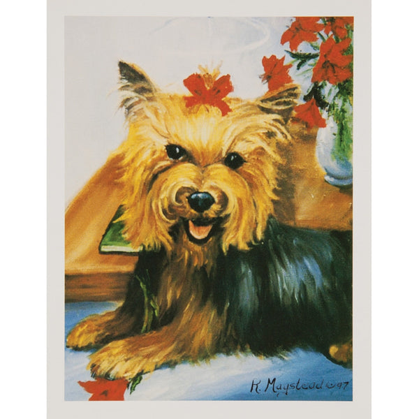 6 Yorkshire Terrier Boxed Christmas Greeting Cards
