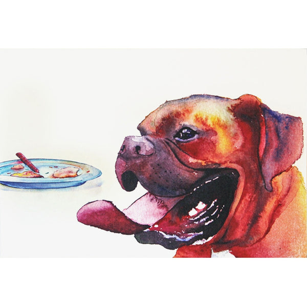 Boxer Happy Birthday Greeting Card