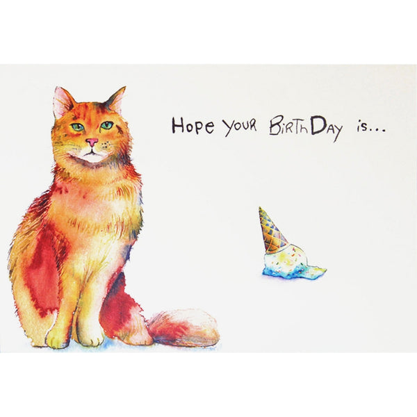 Cat Purfect Happy Birthday Greeting Card