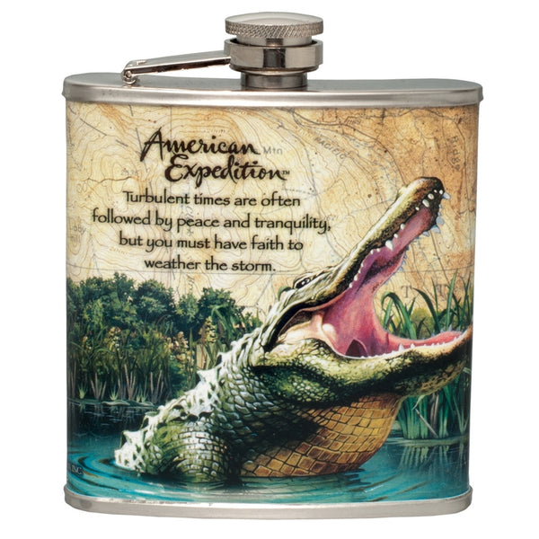Alligator Steel Hip Flask