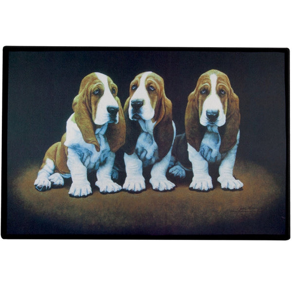 Basset Hound Puppies Doormat