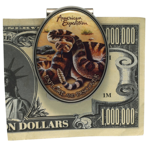 Rattlesnake Metal Money Clip