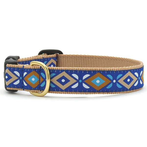 Aztec Blue Dog Collar